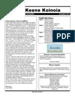 Church Newsletter- November 2011