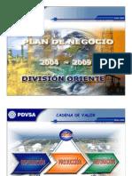 Plan Negocio 2004-2009 Pdvsa Oriente