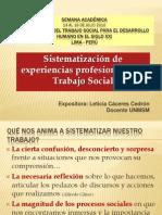 Sistematizacion en Trabajo Social