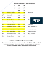 Basketball Schedule Updated Oct 28 2011