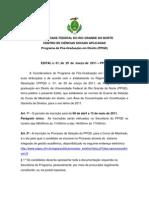 Edital Mestrado Em Direito - UFRN - 2011