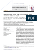 Language-specific effects in Alzheimer's disease