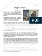 ¿Por qué Pedro negó a Jesús? - Estudio SUD