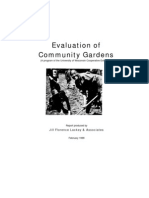 Evaluation of Community Gardens