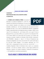 Formato Modelo Ejemplo CERTIFICACIÓN GRAVÁMENES