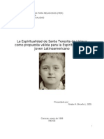 La Espiritualidad de Santa Teresita de Lisieux Como Propuesta Para El Joven no