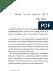 Pulsion de mort cause ou effet André MARTINS