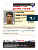 Reward for Information about John Young Kim