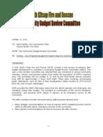 2011 CBRC Recommendations