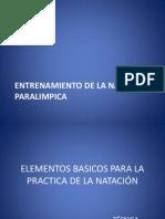 ENTRENAMIENTO DE LA NATACIÓN PARALIMPICA
