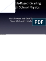 ISEC 2011 Standards-Based Grading for High School Physics