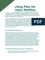Teaching Plan for Diabetes Mellitus
