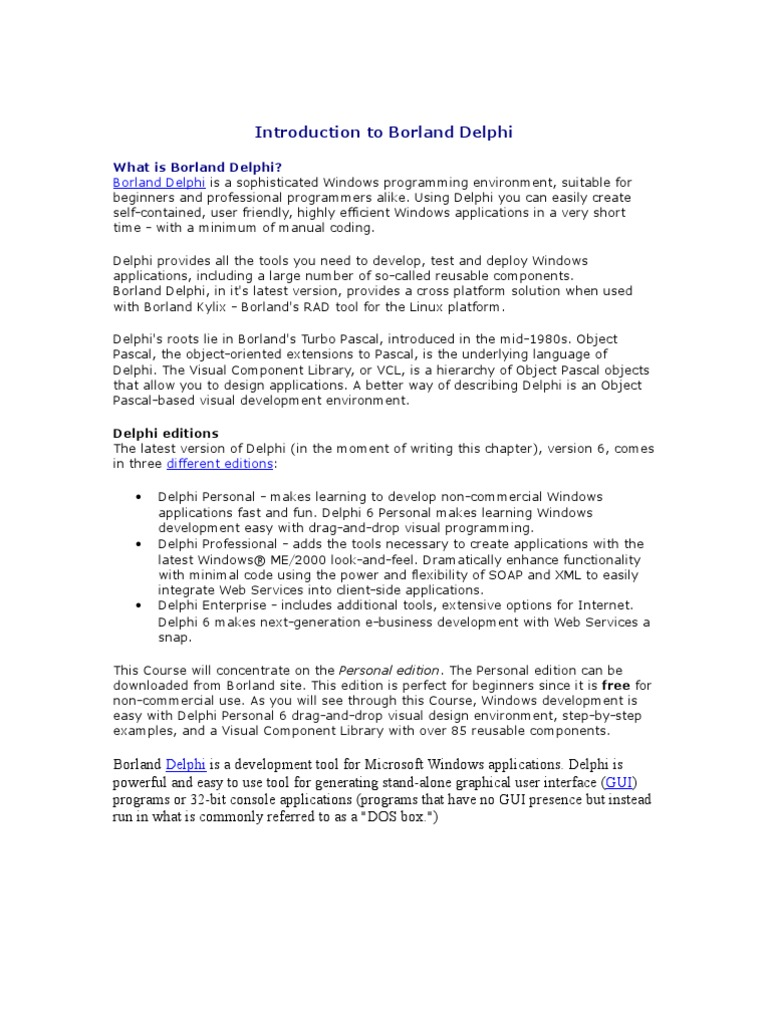 Borland delphi 7 free download full version torrent.