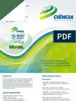 Folder-Programa Mobilidade Internacional em Ciência, Tecnologia e Inovação