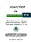 Islamic Insurance in Bangladesh a Study of Fareast Islami Life
