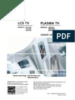 LG Plasma TV 42PC3D 42PC3DV 50PC3D