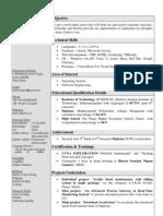 Kathirirajan 2011 Resume