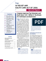 2006 Tax Relief Health Care