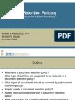 Document Retention Policies