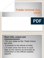 1The Trade Unions Act, 1926