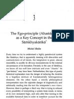 The Ego-principle (Ahamkara) as a Key Concept in the Samkhyakarika