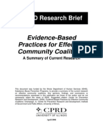 Evidence Based Practices for Effective Community Coalitions (CPRD)