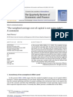 _The Weighted Average Cost of Capital is Not Quite Right_- A Comment