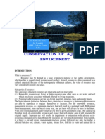 Conservation of Aquatic Environment