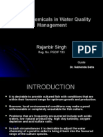 Use of chemicals for management of water quality