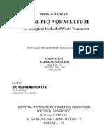 Sewage-fed aquaculture