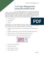 Loan Repayment Schedule_Microsoft Excel