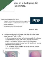 Ilustracion Volumen Esfera Con Lapiz de Color