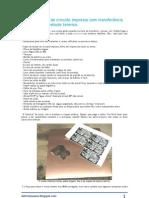 Fazendo placas de circuito impresso com transferência de toner pelo método térmico [eletronicaeasy.blogspot.com]