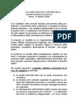 Proposta Linee Guida Riforma Contrattazione Ottobre 2008 %28Confindustria%29