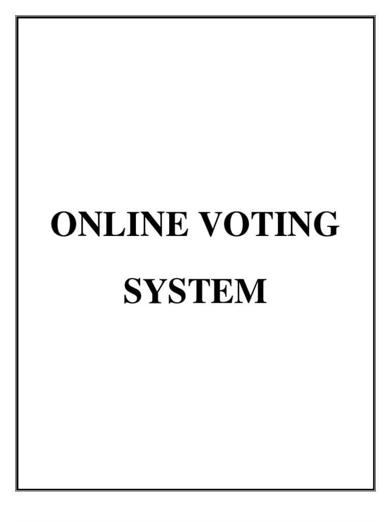 Documentation online voting system visual basic for applications documentation online voting system visual basic for applications basic ccuart Image collections