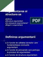 Argument Area Si Structura Sa