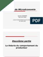 Micro - La théorie du comportement du producteur
