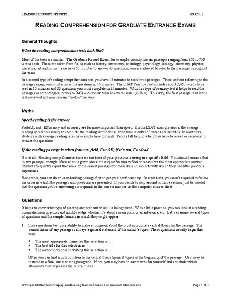 reading comprehension thesis introduction Thesis presented in partial fulfillment 41 introduction to data my program included both reading comprehension and response to literature.
