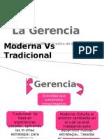 La Gerencia Moderna vs Tradicional