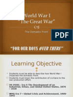 World War I - Domestic Front