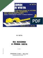 M. Vetta - Chitarra e Piano Accordi a Prima Vista