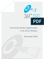 Community Garden Opportunities in the City of Subiaco