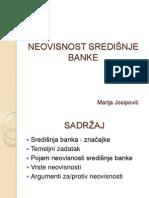 NEOVISNOST SREDIŠNJE BANKE