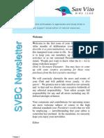 SVBC Newsletter Vol 1 No 1-Aug 2006