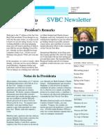 SVBC Newsletter Vol 2 No 1-Aug 2007