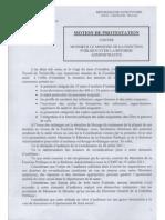 Motion de Protestation / Coordination des Syndicats des Personnels Soignants