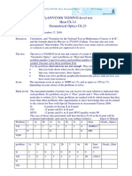 VG MVG++Level+Test+V1+FyANVC08+Ch+14&23+Heat&Geometric+Optics