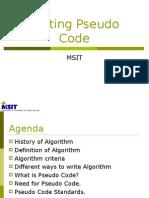 Writing PsuedoCode