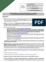 VLIR Application Form 2008 2009 Office)