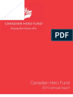 Canadian Hero Fund 2010 Annual Report